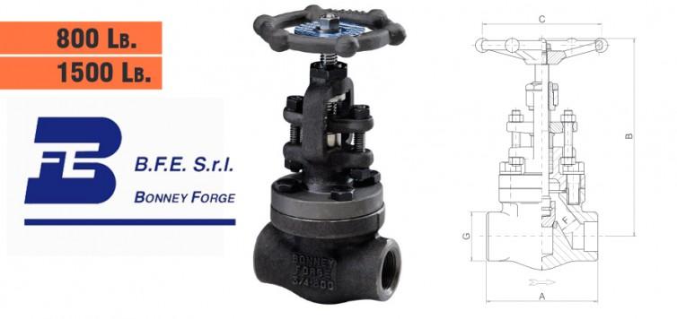 Bonney Forge Bolted Bonnet- 800 lb. & 1500 lb. Globe Valves
