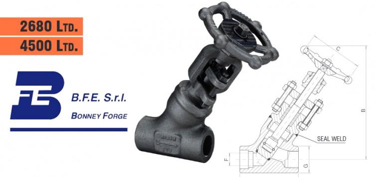 Bonney Forge Welded Bonnet (Y type)- 2680 lb. & 4500 lb. Globe Valves