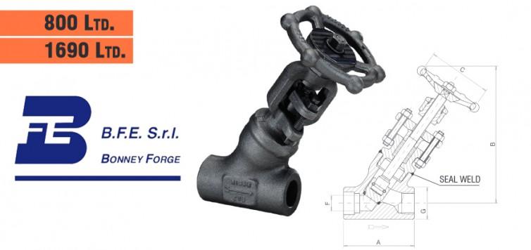 Bonney Forge Welded Bonnet (Y type)- 800 lb. & 1690 lb. Globe Valves