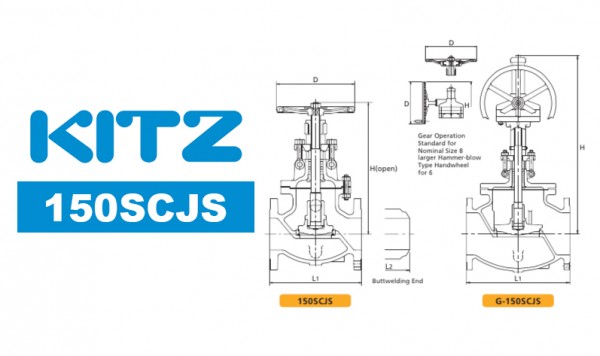 Kitz 150SCJS Cast Carbon Steel Globe Valve