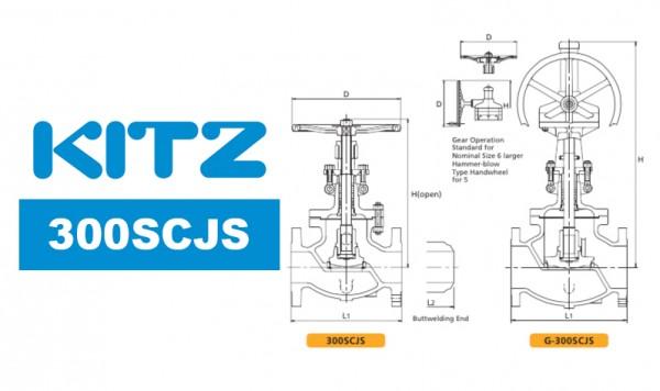 Kitz 300SCJS Cast Carbon Steel Globe Valve