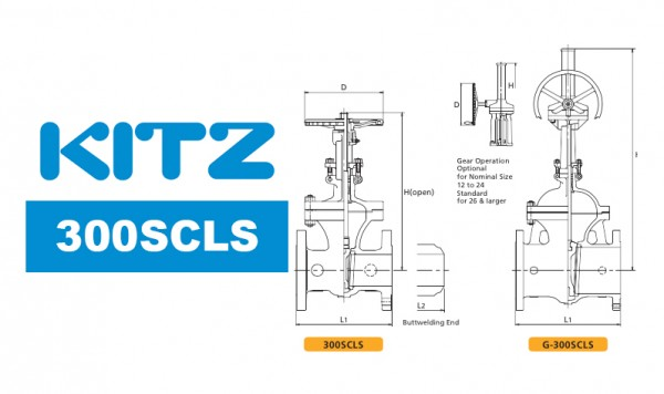 Kitz 300SCLS Cast Carbon Steel Gate Valve