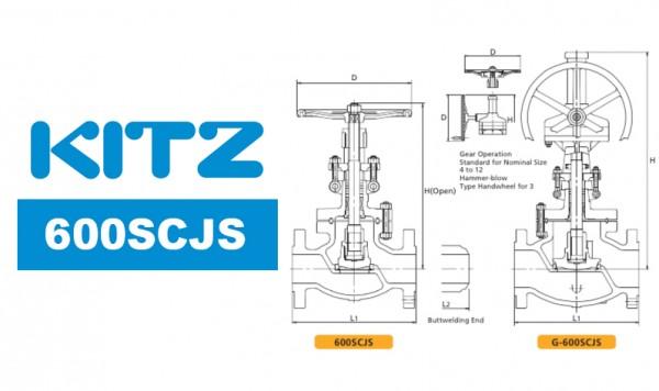 Kitz 600SCJS Cast Carbon Steel Globe Valve