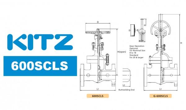 Kitz 600SCLS Cast Carbon Steel Gate Valve