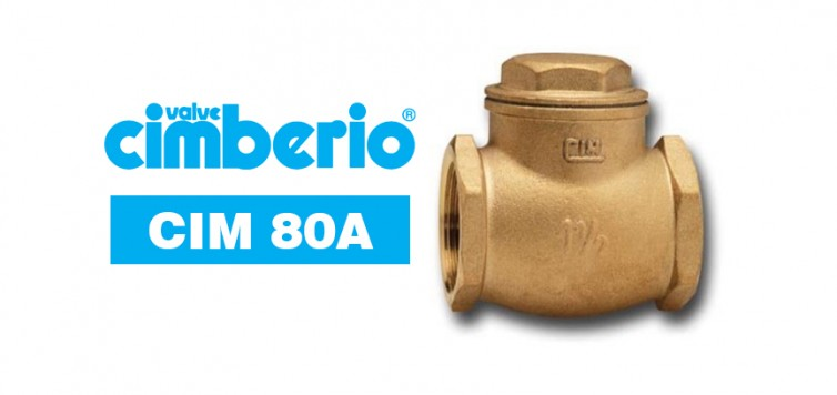 Cim 80A Brass Swing Check Valve