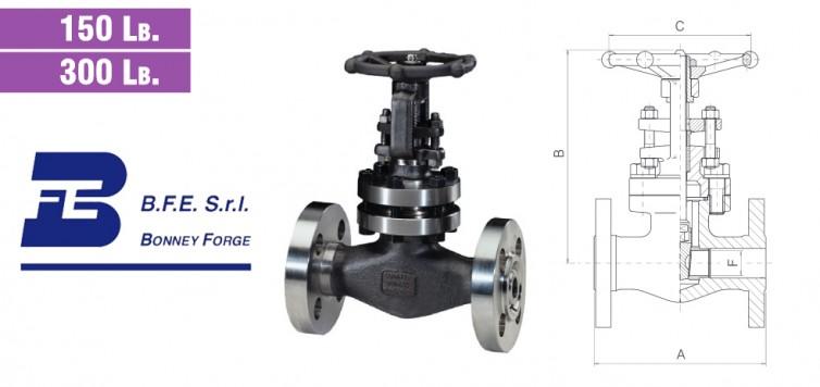 Gate Type- Bolted Bonnet- 150 lb. & 300 lb. valves