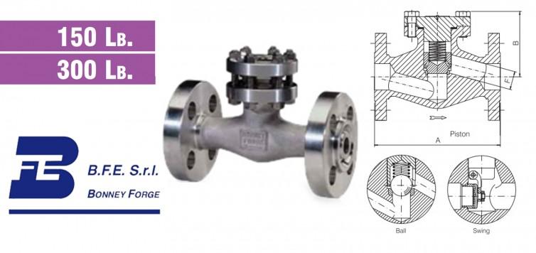 Bonney Forge Check Valve Type- Bolted Bonnet- 150 lb. & 300 lb. valves