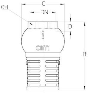 Cim 95 Filtering Foot Valve 3